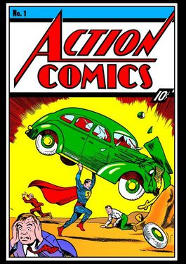 DC Comics Steel Covers Dibón metálico Action Comics #1 1938 17 x 26 cm