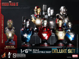 HTB14-20 Iron Man 3: Deluxe 1:6 scale Collectible Bust Set