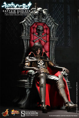MMS223 Space Pirate Captain Harlock on Arcadia Throne Sixth Scale Figure