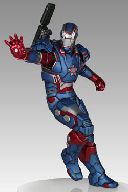 Marvel: Iron Patriot Statue