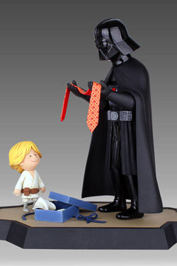 Star Wars Maquette Darth Vader and Son 25 cm