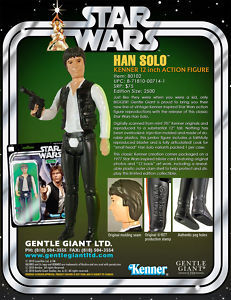 SW KENNER HAN SOLO BIG HEAD 12'' 1977