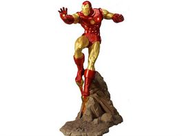 THE INVINCIBLE IRON MAN COLD CAST PORCELAIN STATUE