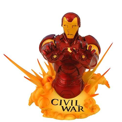 CIVIL WAR. IRON MAN BUST