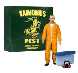Breaking Bad Figura Deluxe Jesse Pinkman in Orange Hazmat Suit  Exclusive 15 cm