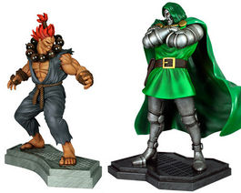 MARVEL VS CAPCOM 3. DR. DOOM VS AKUMA 1.4 SCALE STATUE SET