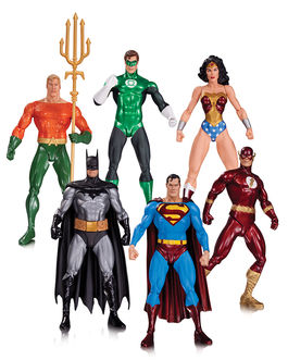 ALEX ROSS JUSTICE LEAGUE 6 PACK ACTION FIGURES
