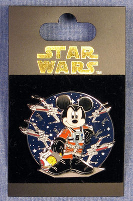 STAR TOURS PIN X-WING PILOT MICKEY