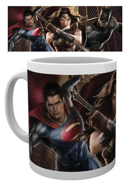 BATMAN VS SUPERMAN Trio Action MUG