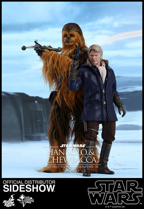 Star Wars the Force Awakens: Chewbacca & Han Solo 1:6 scale Set MMS376