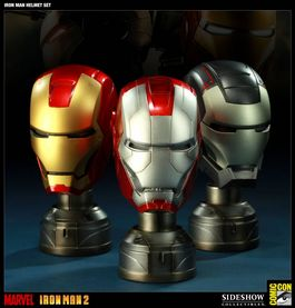 IRON MAN HELMETS SET SDCC 2011 Exclusive