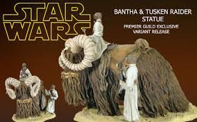 GENTLE GIANT BANTHA Y TUSKEN RAIDER PGM EXCLUSIVE STATUE