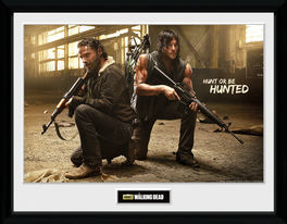 THE WALKING DEAD Rick and Daryl Hunt printed frame