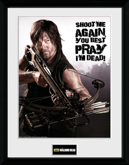 THE WALKING DEAD Daryl shoot me printed frame