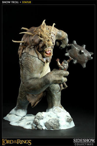 SIDESHOW LORS OF THE RINGS SNOW TROLL POLYSTONE STATUE