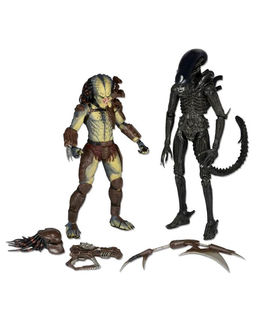 "AVP 7"" ALIEN & PREDATOR W/ MINI COMIC AF"