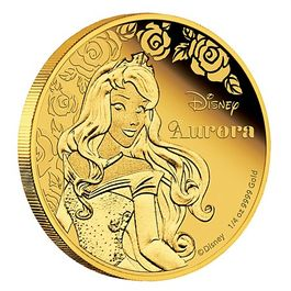DISNEY-Aurora- 1/4 Oz GOLD