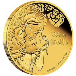 DISNEY-Belle- 1/4 Oz GOLD
