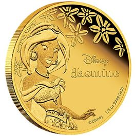 DISNEY-Jasmine- 1/4 Oz GOLD