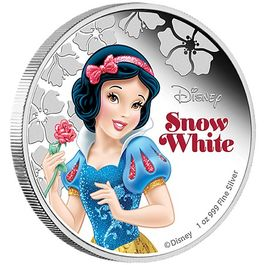 DISNEY-Snow White- 1 Oz Silver