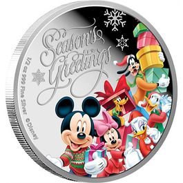 DISNEY- Seasons Greetings 1/2 Oz Silver