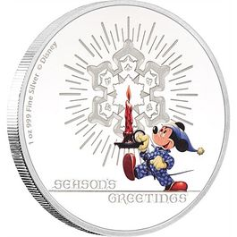 DISNEY- Seasons Greetings 2016 1 Oz Silver