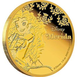 DISNEY-Merida- 1/4 Oz GOLD