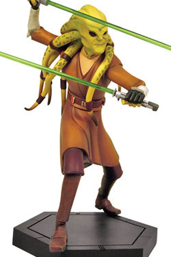 Star Wars The Clone Wars Estatua Kit Fisto 22 cm
