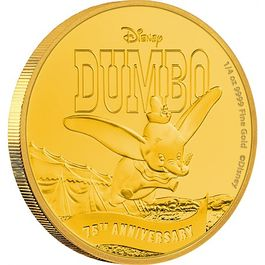 DISNEY- Dumbo 75th Anniversary 1/4 Oz Gold