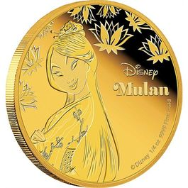 DISNEY-Mulan- 1/4 Oz GOLD