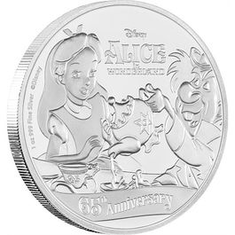 DISNEY-Alice in Wonderland 65th Anniversary 1 Oz Silver