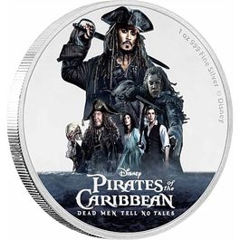DISNE-PIRATES OF THE CARIBBEAN 1 Oz Silver Coin