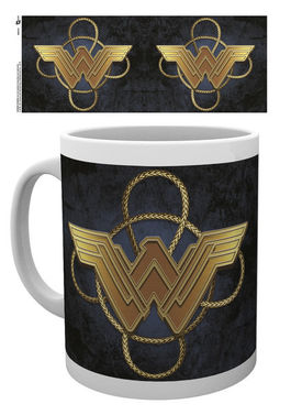 WONDER WOMAN Gold Logo TAZA
