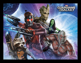 Guardians Of The Galaxy (Team) Framed 30 x 40cm Print