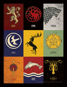 Game of Thrones (Sigils) Framed 30 x 40cm Print