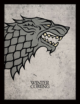 Game of Thrones (Stark) Framed 30 x 40cm Print