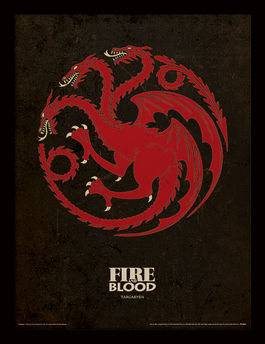 Game of Thrones (Targaryen) Framed 30 x 40cm Print