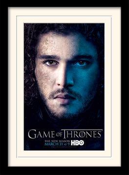 Game of Thrones (Season 3 - Jon) Mounted & Framed 30 x 40cm Print