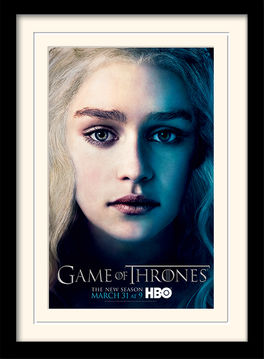 Game of Thrones (Season 3 - Daenrys) Mounted & Framed 30 x 40cm Print