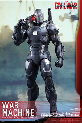 Marvel Civil War: Diecast War Machine Mark III Sixth scale Figure MMS344D15