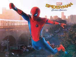 Spider-Man Homecoming (Swing) Canvas Print