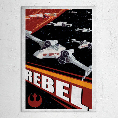 REBEL POSTER METALICO
