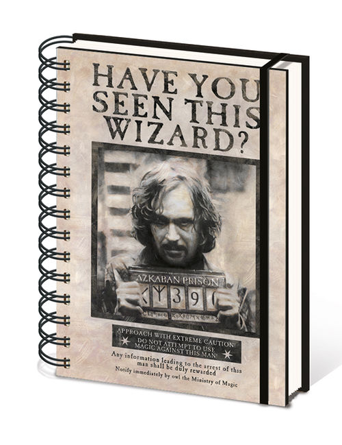 Harry Potter (Wanted Sirius Black) A5 Wiro Notebook