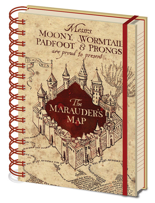 Harry Potter (The Marauders Map) A5 Wiro Notebook
