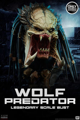 Alien vs Predator: Exclusive Wolf Predator Legendary Scale Bust