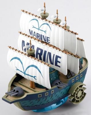 MAQUETTE GRANDSHIP MARINE WARSHIP DEL MANGA ONE PIECE, MIDE APROX 15CM