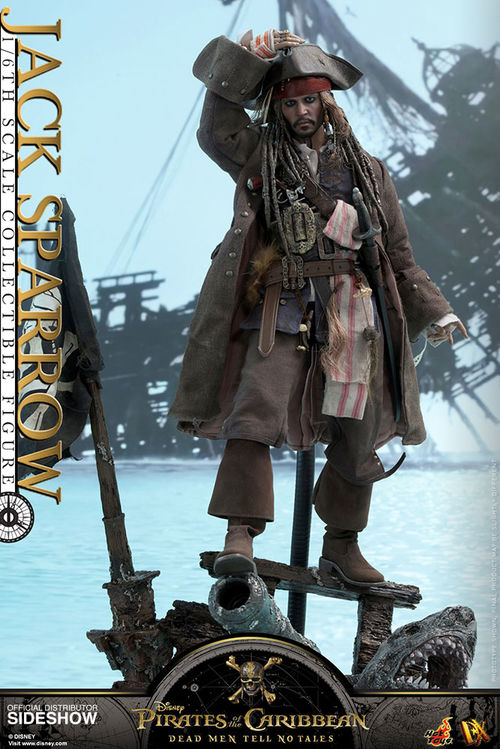 PotC: Dead Men Tell No Tales - Jack Sparrow 1:6 Scale Figure DX15