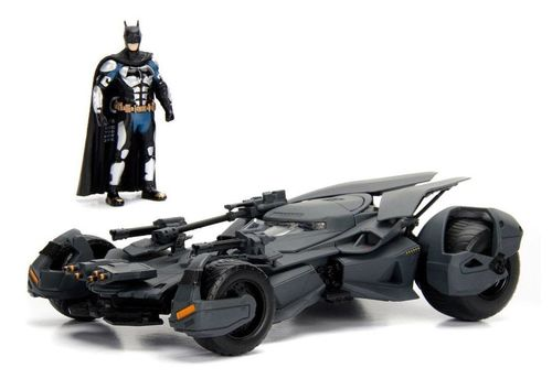 Justice League Diecast Model 1/24 2017 Batmobile with figure