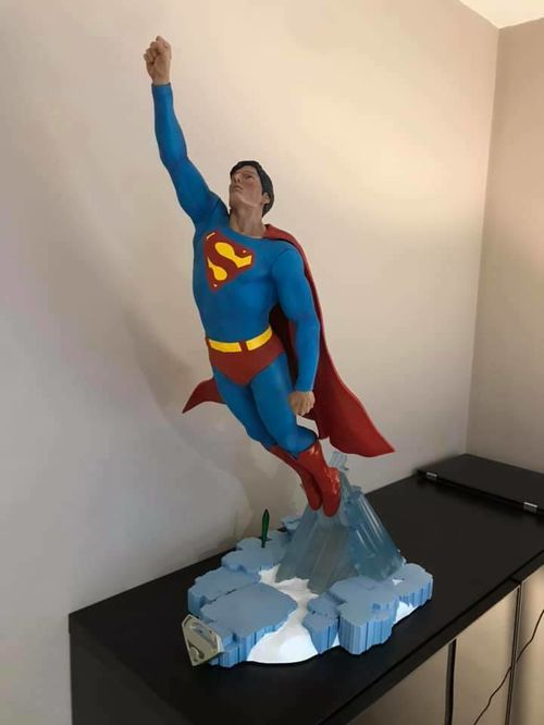 CUSTOM SUPERMAN CHRISTOPHER REEVE 1/4 RESIN STATUE BY ALEJANDRO PEREIRA